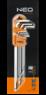 Набор ключей шестигранных с магнитным наконечником 1,5-10мм 9шт NEO 09-515