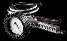 Пистолет для подкачки с манометром, шланг 900мм NEO 12-550