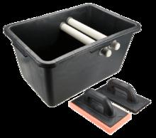 Набор плиточника: ведро 40л и две терки TOPEX 13A339