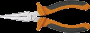 Тонкогубцы удлиненные прямые 160 мм NEO 01-013