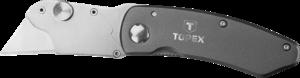 Нож с трапециевидным лезвием 155мм, 10 лезвий TOPEX 17B178
