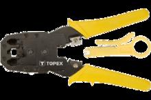 Клещи для обжима телефонных наконечников 195 мм TOPEX 32D409