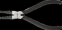 Щипцы изогнутые для снятия внутренних стопорных колец 230 мм NEO 01-038