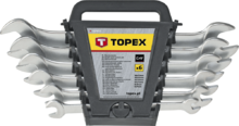 Набор рожковых двусторонних ключей 6-32мм 12шт TOPEX 35D657