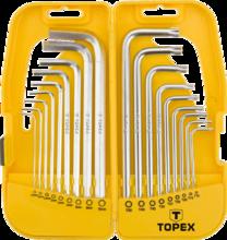 Набор шестигранников и Torx удлиненных 18шт TOPEX 35D953
