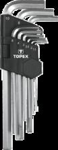 Набор удлиненных шестигранников 9шт TOPEX 35D956