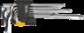 Набор ключей звездообразных Torx с T-образной рукояткой 9шт TOPEX 35D964