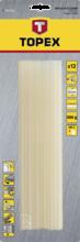 Стержни клеевые черные 11мм 12шт TOPEX 42E173