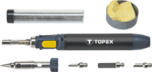 Микрогорелка 12мл с пьезоподжигом и насадками TOPEX 44E108