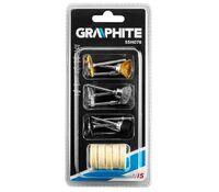 Набор аксессуаров для мини дрели, щетки, толи, 15шт GRAPHITE 55H078