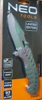 Нож раскладной с титановым покрытием NEO Tools 63-101 фото