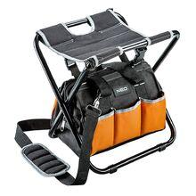 Табурет складной с монтерской сумкой NEO 84-306