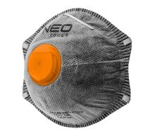 Противопылевая полумаска с активированным углем с клапаном 3шт NEO 97-301