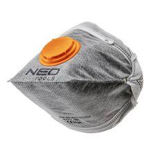 Противопылевая складная полумаска с активированным углем с клапаном 3шт NEO 97-311