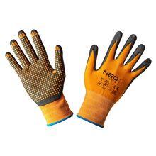 Перчатки рабочие, нейлон, покрытый нитриловыми точками, NEO Tools 97-621