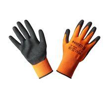 Перчатки рабочие, полиэстер с нитриловым покрытием (песчаный), NEO Tools 97-642