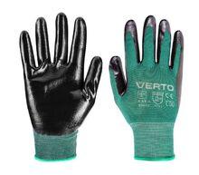 """Перчатки садовые с нитриловым покрытием, размер 9"""" VERTO 97H152"""