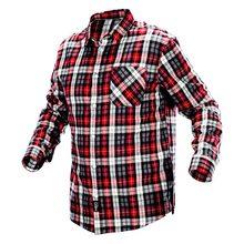 Изображена красная фланелевая рубашка NEO Tools 81-540