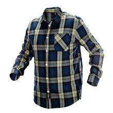 Изображена синяя фланелевая рубашка NEO Tools 81-541