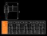 Изображены размеры футболки женской Woman Line NEO Tools 80-611
