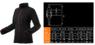 Изображение размеров флисовой женской кофты Women Line NEO Tools 80-500