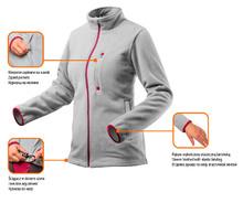 Изображение преимуществ флисовой женской кофты Women Line NEO Tools 80-501