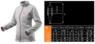 Изображение размеров флисовой женской кофты Women Line NEO Tools 80-501