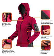 Изображение преимуществ женской куртки softshell Women Line NEO Tools 80-550