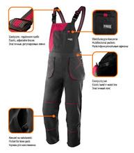 Изображение преимуществ полукомбинезона рабочего женского NEO Tools 80-240