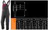Изображение размеров полукомбинезона рабочего женского NEO Tools 80-240